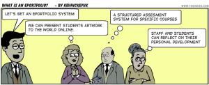 e-portfolio caricature