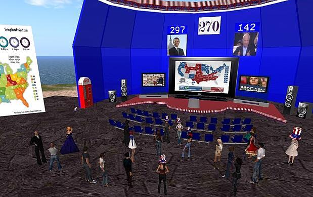 الحياة الثانية -  الانتخابات الأمريكية